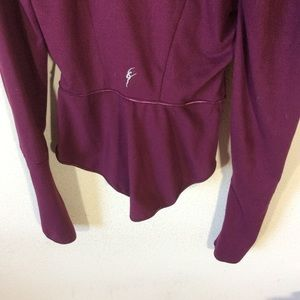 Capezio Tops - Capezio Purple Zip Up Jacket Stretchy Athletic